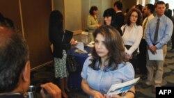 صف متقاضیان کار در آمریکا