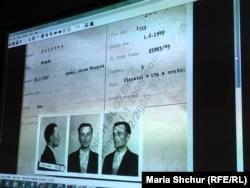 Архівний документ із фотографіями Степана Калитки, страченого у празькій тюрмі Панкрац. Документ був представлений під час лекції чеського історика Давида Свободи