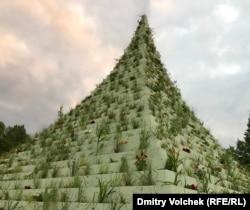 """""""Живая пирамида"""" Агнес Денес в Северном парке Касселя"""