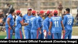 Afghanistan's national cricket team, pictured on March 7.