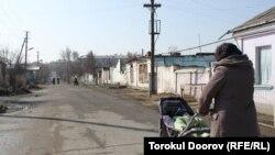 The Cheremushki district of Osh in March