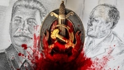 Иосиф Сталин и Александр Вайсберг, коллаж