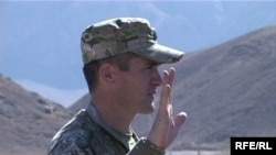 Kyrgyzstan -- Saitjan Eratov, the commander of Batken boundary group, 16oct2009