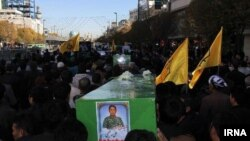 Iran-Burial of Afghan soldier, Ali Rahimi who killed in Syria