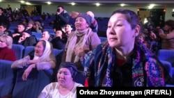 Әлеуметтік жағдайды жақсартуды, баспана мәселесін шешуді талап еткен аналар наразылығы, Астана, 15 ақпан 2019 жыл.