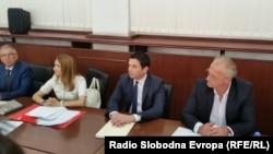 Поранешниот министер за транспорт и врски Миле Јанакиески во Апелациониот суд во Скопје во јули, годинава.
