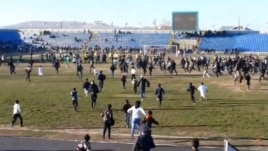 The fans got into the act after a brawl erupted between players from FK Energetik Dushanbe and Istaravshan FK on November 8.