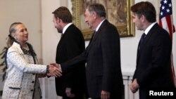 Hillary Clinton sa članovima Predsjedništva BiH