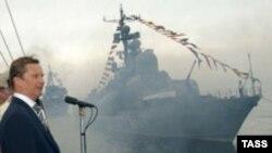 """Современный крейсер """"Варяг"""" сейчас входит в состав ВМФ России"""