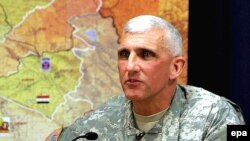 The commander of U.S. Army forces in Europe, Mark Hertling