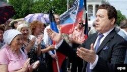 Йосип Кобзон під час одного з попередніх приїздів до окупованого Донецька