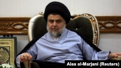 Iraqi Shi'ite cleric Moqtada al-Sadr's coalition was the leading bloc in general elections in May. (file photo)