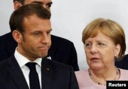 Президент Франції Емманюель Макрон і канцлер Німеччини Ангела Меркель (архівне фото)