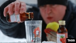 Poisonings with surrogate alcohol are common in Russia (file photo)