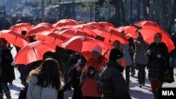 """""""Марш красных зонтов"""" в поддержку прав секс-работниц"""