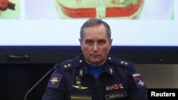 Ресей әскери-әуе күштерінің ұшу қауіпсіздігі қызметі басшысының орынбасары Сергей Байнетов. Мәскеу, 21 желтоқсан 2015 жыл.