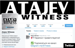 A screen grab of Murad Atajev's Twitter account