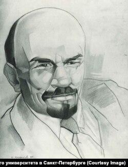 Владимир Ленин, иллюстрация Юрия Анненкова