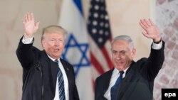Դոնալդ Թրամփը և Բենյամին Նաթանյահուն Իսրայելի պատմության և հնագիտության թանգարանում, Երուսաղեմ, 23-ը մայիսի, 2017 թ․