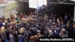Astara gömrük-keçid məntəqəsi, fevral 2012