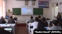 Одна из школ в столице Душанбе, Таджикистан. 31 марта 2020 года.