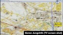 Karta Sarajeva korištena u sudnici