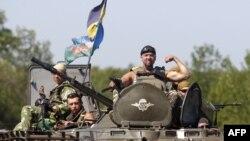 Ուկրաինացի զինծառայողները Դոնեցկի մարզում, 9-ը օգոստոսի, 2014թ․