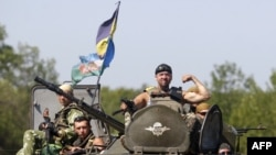 یکی سرباز ارتش اوکراین در اطراف دونتسک