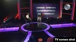 """В студии телекомпании """"Имеди"""""""