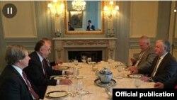 Ադրբեջանի և Հայաստանի արտգործնախարարները և ԵԱՀԿ Մինսկի խմբի նախագահները հանդիպման ժամանակ, Նյու Յորք, 23-ը սեպտեմբերի, 2014թ․