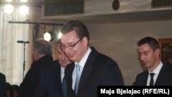 Aleksandar Vučić na dodeli nagrade, 16. decembar 2013.