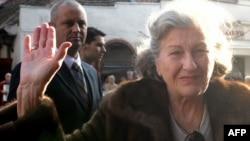 Biljana Plavsic arrives in Belgrade