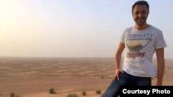 Пустэльны пэйзаж Арабскіх Эміратаў