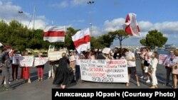 Акцыя салідарнасьці зьБеларусьсю ўБарсэлёне