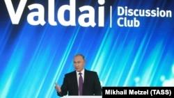 Putin Valday klubunda çıxış edib