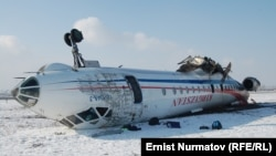 Место крушения самолета, Ош, 29 декабря 2011 года.