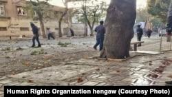 На месте подавления протестов в городе Мариван (Иранский Курдистан)
