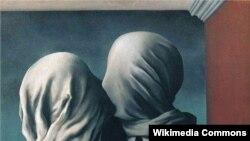 """""""Сүйүшкөндөр"""". Рене Магритт. 1928."""