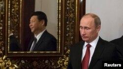 Қытай мен Ресей басшылары кездесуі. Мәскеу, 22 наурыз 2013 жыл.