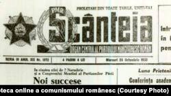"""Istoria întrecerii socialiste se întinde pe toată perioada dictaturii comuniste. """"Scânteia"""" a scris cronica realist-socialistă a luptei pentru decorații, medalii și fotografii la panoul de onoare. Fototeca online a comunismului românesc; cota 177/1950"""
