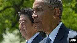 ԱՄՆ-ի նախագահ Բարաք Օբամա և Ճապոնիայի վարչապետ Սինձո Աբե, Վաշինգտոն, 28-ը ապրիլի, 2015թ.