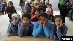 Сиријски бегалци во Јордан.