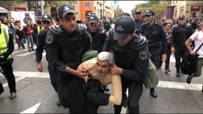 Police Detain Dozens At Baku Protest