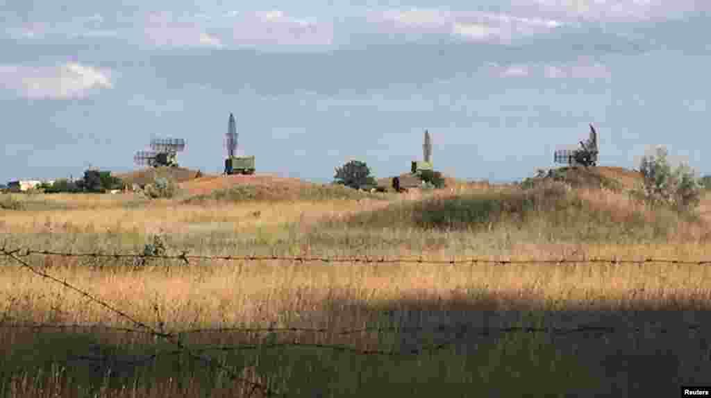 Fotoradar u mjestu naselja i vazdušne vojne baze Novofedorivka, zapadno područje Krima.