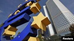 Здание Европейского Центробанка во Франкфурте (Германия)