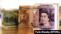 Dollar/Avro/Funt-sterlinq