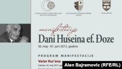 """Plakat manifestacije """"Dani Huseina ef. Đoze"""", 2016."""