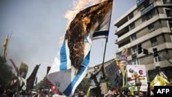 Протестите во Иран за поддршка на Палестинците