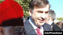 Президент Саакашвили с предстоятелем Грузинской православной церкви помолились за скорейший выход из кризиса