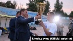 Нагородження переможців футбольного турніру «Крим – це Україна», Херсон, 28 серпня 2017 року